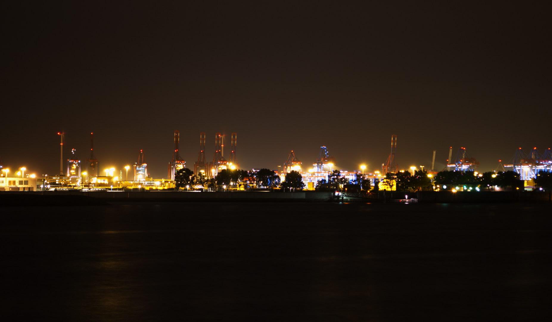 Hafen Panorama Nacht Wasser
