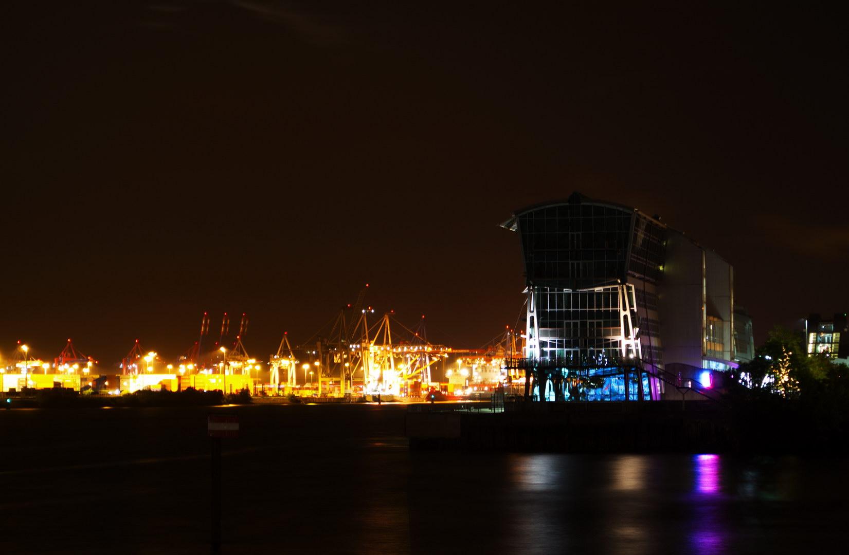 Hafen Gebauude Nacht Wasser