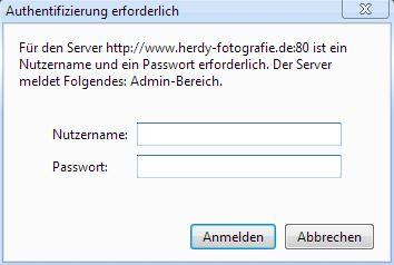 htaccess passwort