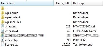 wordpress hauptverzeichnis