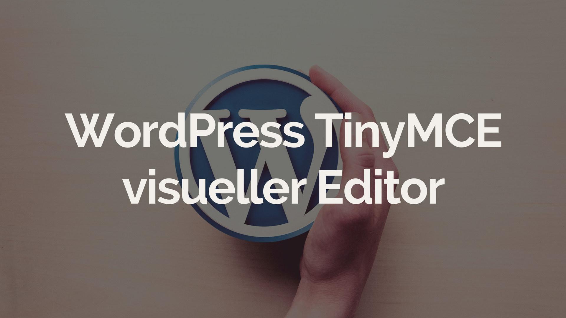 WordPress TinyMCE visueller Editor