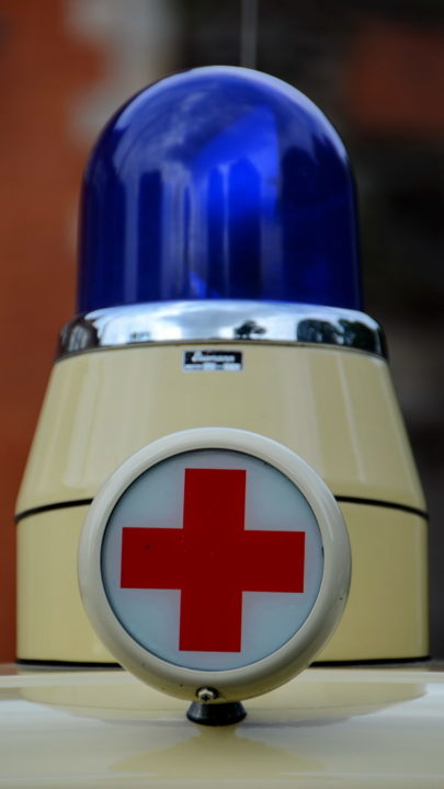 Altes Blaulicht Rotes Kreuz Nahaufnahme