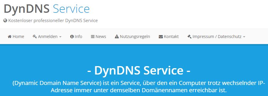 DynDNS DDNSS Service Kostenloser professioneller DynDNS Service
