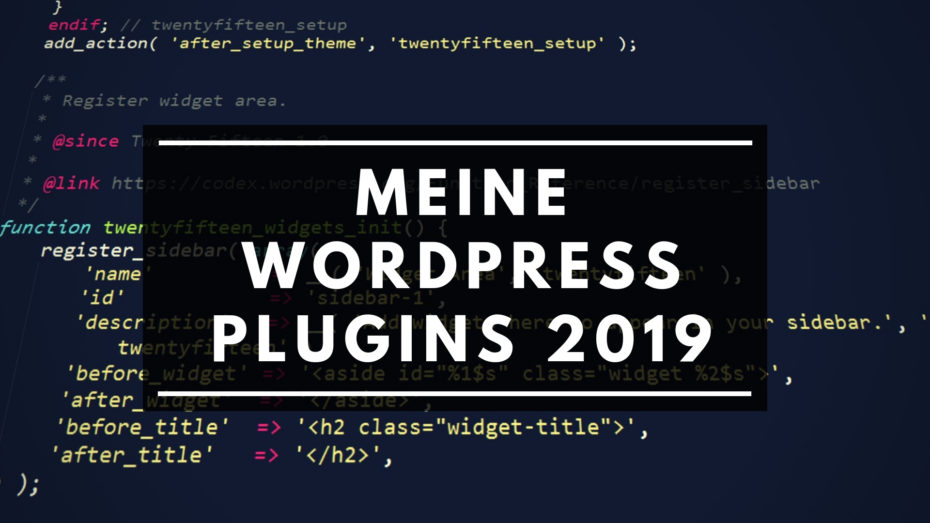 Meine WordPress Plugins 2019