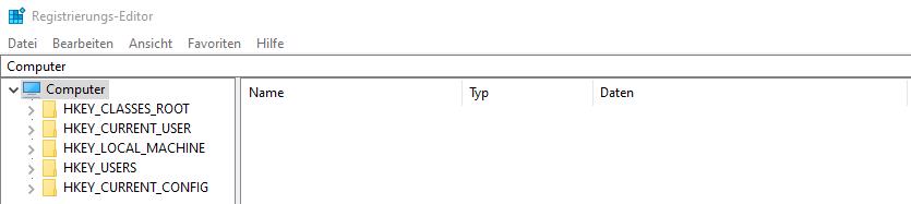 Registry Übersicht